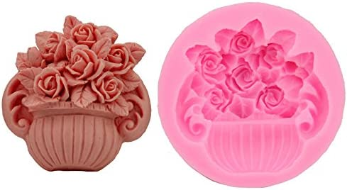 XIAOLING Beautiful Flower Basket Potted Large-scale sale DIY Cake Mold Silicone C Free shipping / New