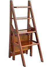 IG Taburete de Escalera Plegable, Silla de la Escalera de Cuatro Pasos, Taburete de Paso de Cocina Multifunción, Taburete de Pasos Infantiles, Escalera de Ascenso para el Hogar Multifuncional