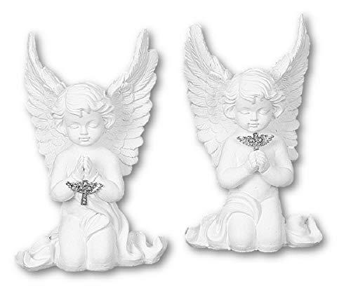 Geschenkestadl Engel Figur kniend mit Kreuz ca. 17,5 cm Schutzengel Hochzeit Taufe