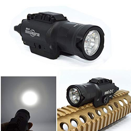 FIRECLUB XH35 ウェポンライト★1000ルーメンでバチッと明るい! 検 M4M16SR-16サバイバルゲーム電動ガントイガンフラッシュライトタクティカルライト (ブラック)