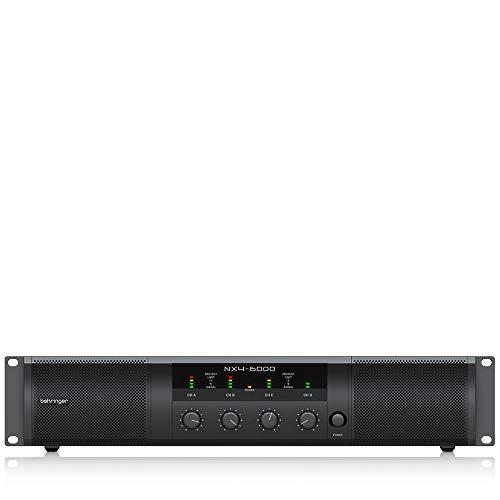 Behringer Nx4-6000 Lightweight 6000 Watt 4 Channel Class D Power Amplifier With Smartsense Loudspeaker Impedance Compensation