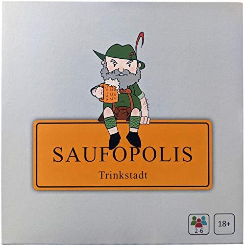 SAUFOPOLIS – Trinkspiel | Die maximale Druckbetankung und Jede Menge Spaß Machen Dieses Saufspiel einzigartig | Brettspiel - Partyspiel - Kartenspiel - Spieleabend - Für Erwachsene ab 18 Jahren