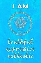 Throat Chakra Journal: I Am Truthful, Expressive, Authentic Vishuddha Blue Symbol and Positive Affirmation Notebook 100 Page 6 x 9