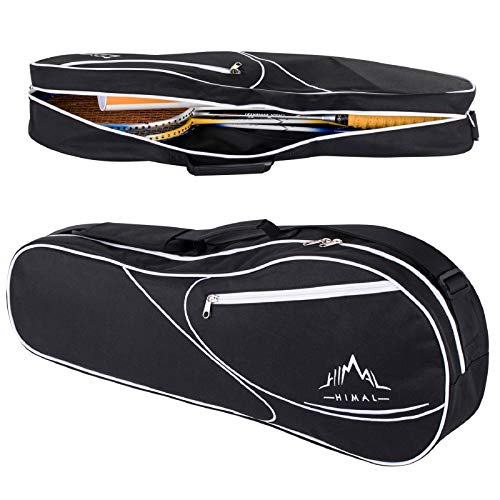 Himal 3 Racquet Tennis-Bag Premium Tennis-Racket-Bag with Protective Pad,Professional or Beginner Tennis Players, Lightweight Tennis Bag for All Ages (Black)