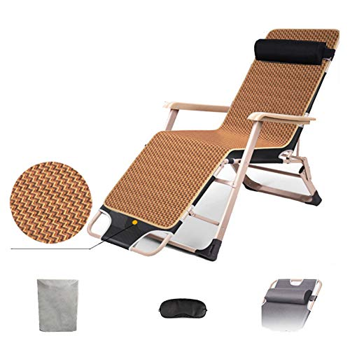 Folding Camping Guest Bed -Lounger -Portable Camping Bed-for Adults Kids -Thicken Tubes Side-with Pillow Strong Stable,D