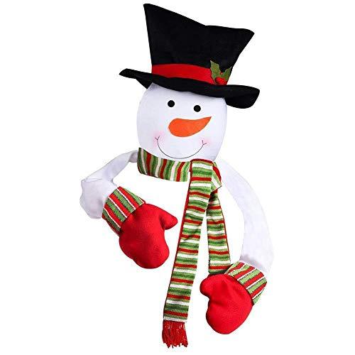 ZHANGXJ Xmas Decor 2 Pcs Christmas Tree Topper Snowman Top Hugger Christmas Tree Hanging Pendants Ornaments Decorations Supplies Gift (Size : Large)