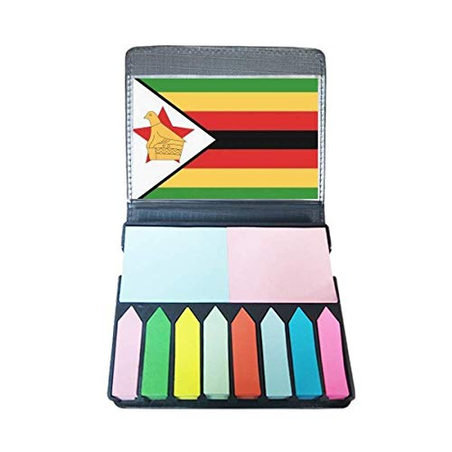 Zimbabwe nationale vlag Afrika land zelfklevende notitie kleur pagina markeerdoos