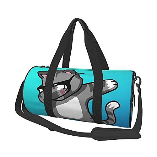 Bolsa de viaje para gafas de sol de gato redondo ligero para hombre y mujer