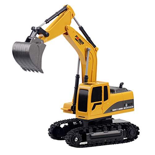 HYMAN Ferngesteuertes Bagger, 1:24 8CH 6CH 2.4G Raupenbagger Baufahrzeuge Legierung Bagger Strandspielzeug für Kinder