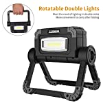 LED Work Light Rechargeable Folding Flood Light Portable Outdoor Stand Work Lights with 360° Rotatation Black 4