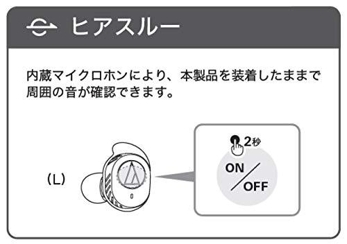 オーディオテクニカaudio-technica完全ワイヤレスイヤホンATH-SPORT7TWGY防水スポーツ用Bluetooth対応左右分離型グレー