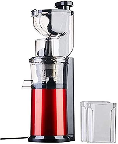 Exprimidor lento, Extractor de jugo de canal de la máquina de la máquina para frutas enteras y verduras Easy Clean Acero inoxidable Juicer con función de pulso sin BPA , Máquinas Exprimidoras Verduras