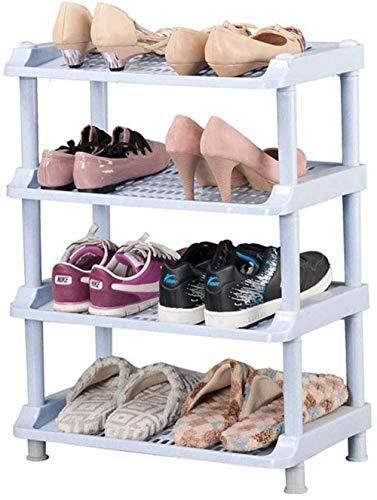 Pared pintura Estante de Zapatos de plástico de 4 Niveles estantes de Almacenamiento Organizador Pasillo Multiusos Asamblea de Bricolaje Taburete Cambiar Zapatos