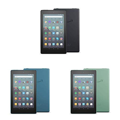 All-New Fire 7 Tablet 3-pack (7' display, 16 GB) - Black/Blue/Sage