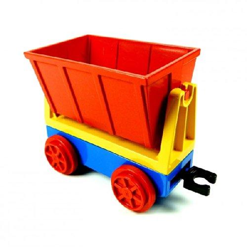 Lego Duplo Eisenbahn großer Lok Zug Kipplore rot gelb Anhänger blau Kippanhänger 4548 E42