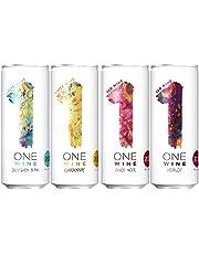 【缶ワイン で本格ワインを1杯から】 ONE WINE (ワンワイン) 4種飲み比べセット [ ワイン フランス 250ml × 4本 ]
