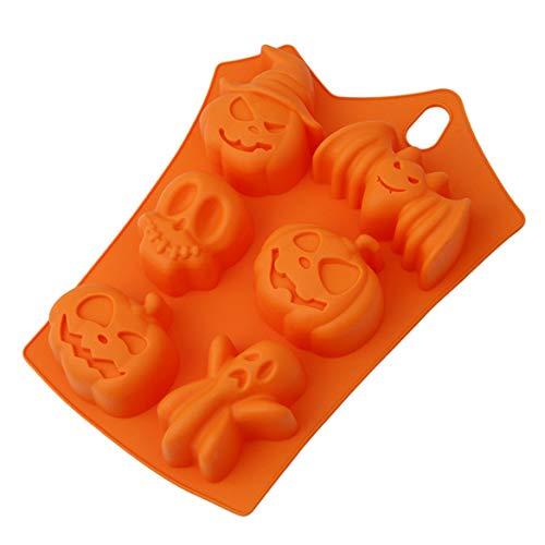 GGQT - Molde de silicona para Halloween, diseño de calabaza, diseño de Halloween