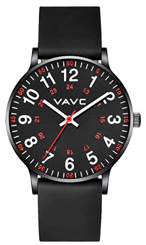 VAVC Nurse Watch for Medical Students,Doctors,Women with Second Hand and 24 Hour. Easy to Read Watch (Black...