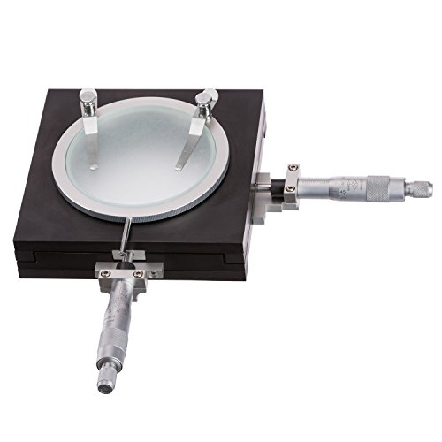 AmScope GT200 Precise Gliding Table - Manual Stage For Microscopes w/ Accuracy 0.01mm