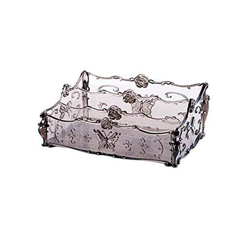 JIANWEI Caja de Almacenamiento Pincel de lápiz Labial Escritorio Baño Organizador Gráficos de Gran Capacidad Mostrar Caja Caja de Caja Caja de cosmética (Color : Black)