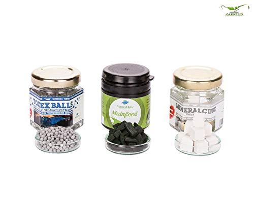 Garnelen 'Sorglos' Paket von Natureholic - Futter + Mineralien + ToxEXBalls! Für Dein Garnelen Aquarium