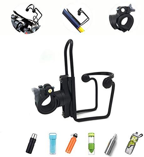 YOLOKE Fahrrad Flaschenhalter,Aluminiumlegierung Flaschenhalter Mit Flaschenhalter Adapter, Geeignet Für Fahrrad Lenker Trinkflaschenhalterung(Schwarz)