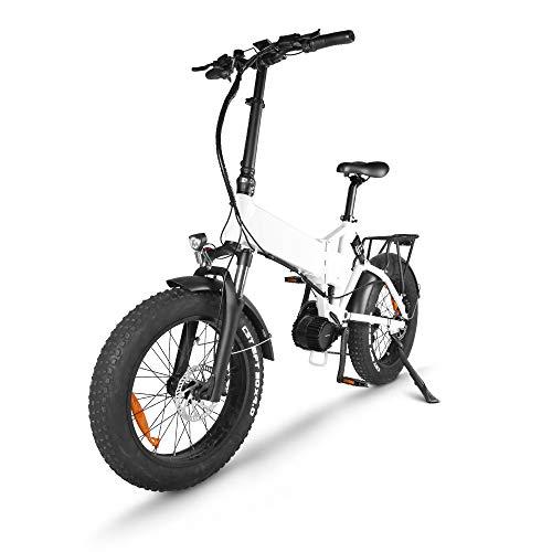 Accolmile Elektrofahrrad E-Bike E Klapprad 20 Zoll für Damen und Herren, BAFANG 48V 1000W Mittelmotor System mit Herausnehmbarer 17Ah Lithium Akku, Fat Tire Faltbare Elektrofahrrad mit 9-Gang