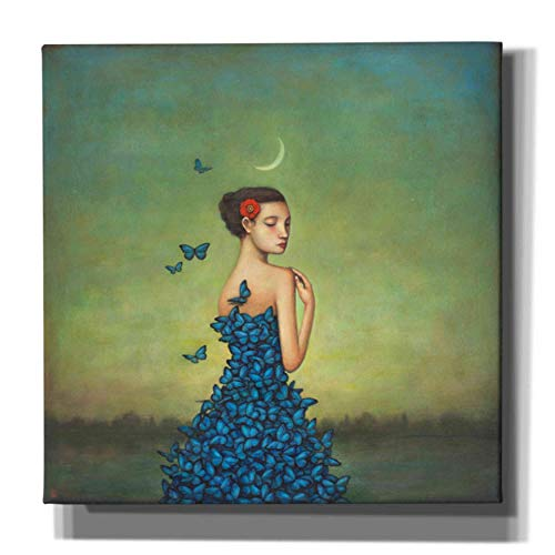 Epic Graffiti 'Metamorphosis in Blue' by Duy Huynh, Canvas Wall Art, 26'x26'