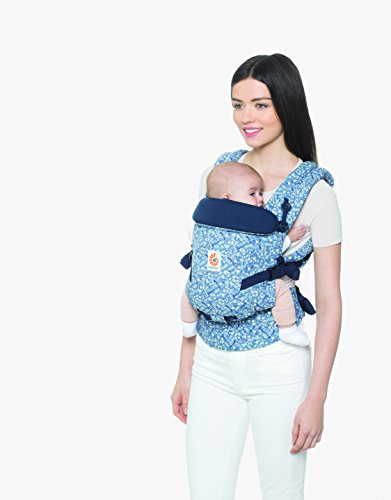 Ergobaby Baby Carrier for Newborn to Toddler up to 20kg, BatikIndigo Adapt 3-Position Ergonomic Backpack Carriers Front Back