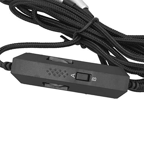 Snufeve6 Cable de Audio para Auriculares, Cable de Audio Cable de Audio para Control de Volumen Brillante Cable de Audio para Auriculares con micrófono Integrado para Auriculares Logitech Astro A10