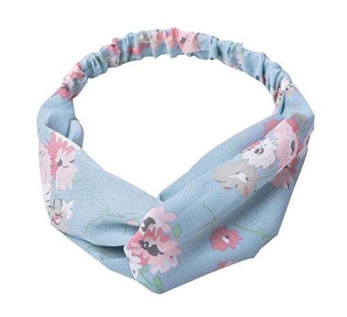Simple Hair Band Lovely Hair Accessories Bouncy Headband, Light Blue