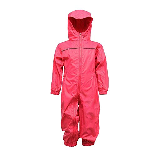 Regatta Kids Paddle Rain Suit Jem Pink Size 2 3