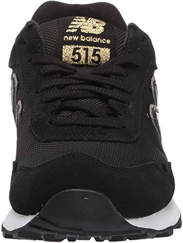 New Balance Damen 515v1 sneaker, / gold metallic, 6 weit 5.5 uk weit black gold metallic