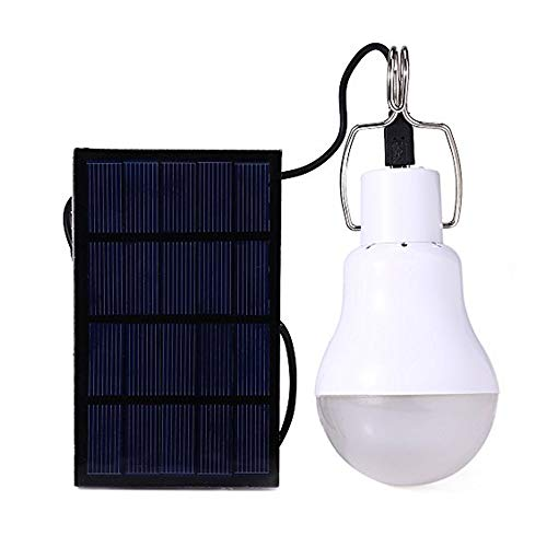 Afoskce Solar Light Bulb Outdoor 130LM Portable Solar Powered Led Bulb Light for Chicken Coops Shed Hiking Fishing Camping Tent Lighting