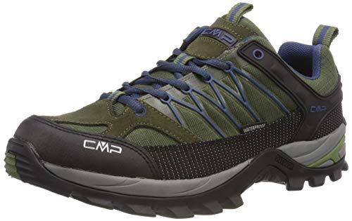 CMP Rigel Low Trekking Shoe WP, Scarpe da Arrampicata Basse Uomo, Verde (Olive-Marine 08fc), 41 EU