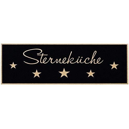 Bavaria.Home-Style-Collection Küchenläufer Deko Sterneküche Waschmaschinen waschbar bei 30°- Größe 50 x150 cm rutschfest