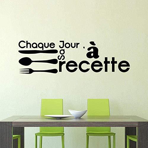 Pegatina Francia Touch It Cooking calcomanías de vinilo para pared calcomanía mural artístico cartel azulejo de cocina decoración del hogar decoración de la casa 29x100cm