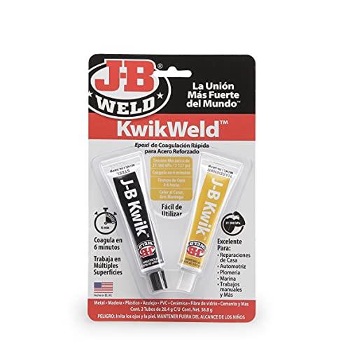 J-B Weld 8276SPA - Soldadura - Inmediata - En frio - Acero Reforzado - Formula rápida - Epoxi - Formula fría - Reparaciones - Múltiples superficies (56,8gr)