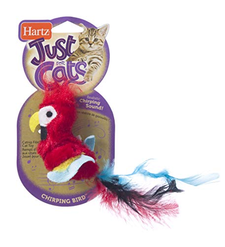 Hartz Just For Cats Chirping Bird Interactive Plush Catnip Cat Toy