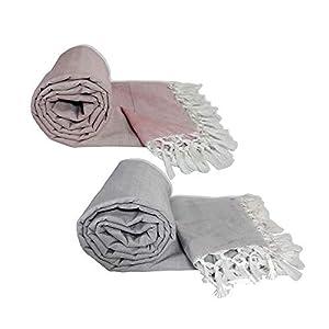 Riyashree Organic Cotton Silky Soft Bhagalpuri Dull chadar Blanket & Duvet ( 53*96 in ) Combo Pack of 2 Dull 06 07