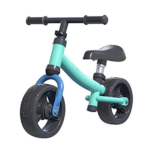 XTZJ Bicicleta de equilibrio, asiento ajustable y manillar para niños Bicicleta de equilibrio para 2,3,4,5,6 años de edad, bicicleta de entrenamiento para niños pequeños sin pedal con reposapiés