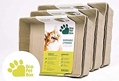 EcoPetBox Disposable Cat Litter Tray Various packs - Eco Friendly - Liquid Proof - Lightweight (20 Pack)