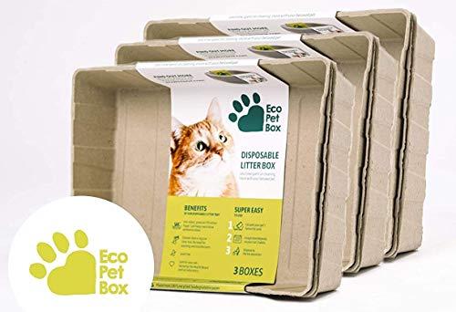 EcoPetBox Einweg-Katzenklo, umweltfreundlich, flüssigkeitsfest, leicht