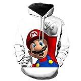 gnngg Niños/Adultos Super Mario Odyssey Sudaderas con Capucha Impresas En 3D Sudadera De Mario Bros Harajuku Fortniter Sudadera con Capucha Niños Chaqueta De Adolescente-2_L