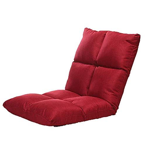 Office Life Lazy Sofa Boden Stuhl Kissen Balkon Kissen Lazy Couch Computer Bett Taillenstuhl Bequeme und schöne Stühle Verstellbare Rückenlehne Sofa Sitzsack (Farbe: Rot, Größe: S: 953210cm)