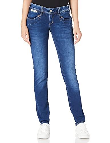 Herrlicher Damen Piper Slim Reused Denim Jeans, Winx 030, W28/L30