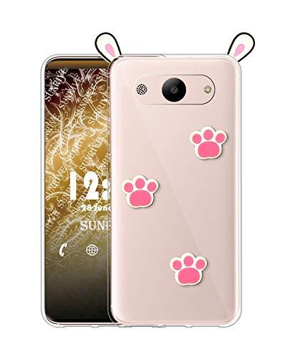 Sunrive Cover per Samsung Galaxy A3 (2015), Custodia 3D Case in Molle Trasparente Silicone Morbida Flessibile AntiGraffio Protettiva Back custodie(A1 Coniglio)