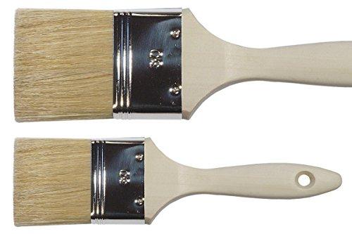 Maler Lack Flachpinsel 70 mm helle Chinaborste Lackierpinsel Lasurpinsel Malerpinsel Borsten Pinsel für lösemittelhaltige Medien