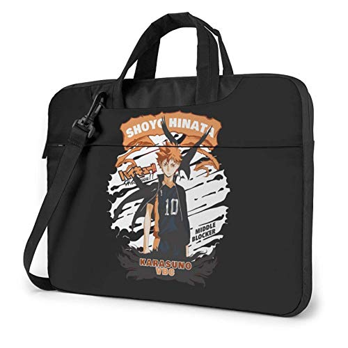 15.6 inch Laptop Shoulder Briefcase Messenger Hinata Shoyo Haikyuu Tablet Bussiness Carrying Handbag Case Sleeve