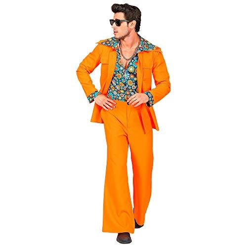 WIDMANN 09404 - Disfraz de años 70 para hombre, color naranja, talla XL , color/modelo surtido